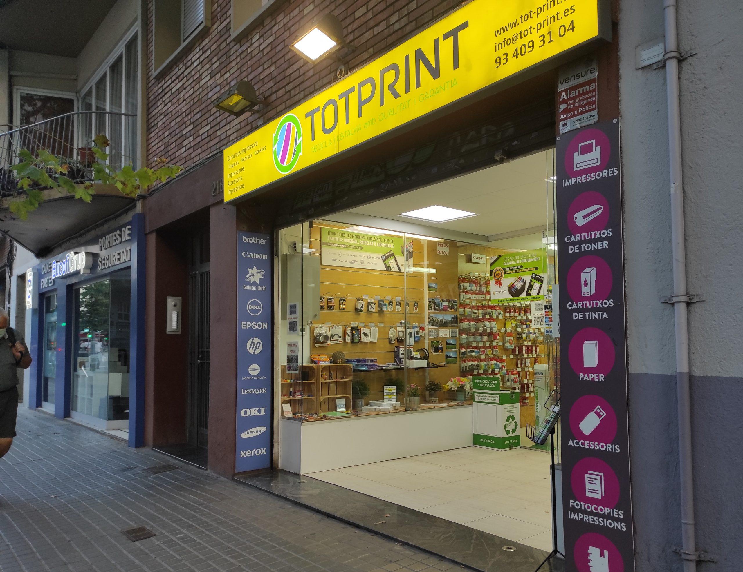 tienda física cartuchos tinta barcelona